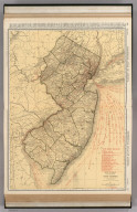 Commercial Atlas of America. Rand McNally Standard Map of New Jersey.