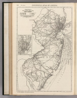 Commercial Atlas of America. Rand McNally Black and White Mileage Map, New Jersey.