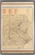 Commercial Atlas of America. Rand McNally Standard Map of Pennsylvania, Eastern Section.