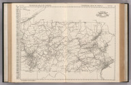 Commercial Atlas of America. Rand McNally Black and White Mileage Map, Pennsylvania.