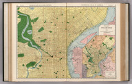 Commercial Atlas of America. Rand McNally Standard Map of Philadelphia. (with) Philadelphia and Vicinity.