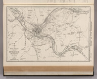Commercial Atlas of America. Rand McNally 14 x 21 Inch Map of Pittsburgh and Vicinity.
