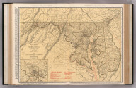 Commercial Atlas of America. Rand McNally Standard Map of Maryland and Delaware. (with) Baltimore and Environs.