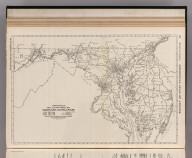 Commercial Atlas of America. Rand McNally Black and White Mileage Map, Maryland and Delaware.