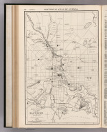 Commercial Atlas of America. Rand McNally 14 x 21 Inch Map of Baltimore.