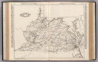 Commercial Atlas of America. Rand McNally Black and White Map of Virginia and West Virginia.
