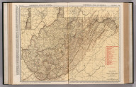 Commercial Atlas of America. Rand McNally Standard Map of West Virginia.