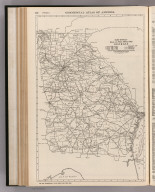 Commercial Atlas of America. Rand McNally Black and White Mileage Map, Georgia.