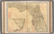 Commercial Atlas of America. Rand McNally Standard Map of Florida. (with) Southern Portion of Florida.