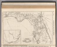 Commercial Atlas of America. Rand McNally Black and White Mileage Map, Florida.