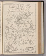 Commercial Atlas of America. Rand McNally Black and White Mileage Map, Alabama.
