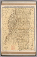 Commercial Atlas of America. Rand McNally Standard Map of Mississippi. (with) Birmingham and Vicinity.