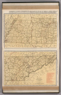 Commercial Atlas of America. Rand McNally Standard Map of Tennessee.