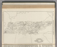 Commercial Atlas of America. Rand McNally Black and White Mileage Map, Tennessee.