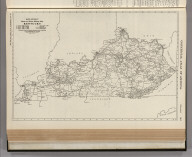 Commercial Atlas of America. Rand McNally Black and White Mileage Map, Kentucky.