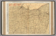 Commercial Atlas of America. Rand McNally Standard Map of Ohio. (Northern Section)