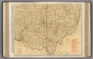Commercial Atlas of America. Rand McNally Standard Map of Ohio. (Southern Section)