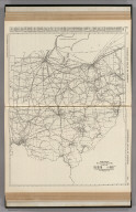 Commercial Atlas of America. Rand McNally Black and White Mileage Map, Ohio.