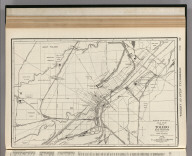 Commercial Atlas of America. Rand McNally 14 x 21 Inch Map of Toledo and Vicinity.