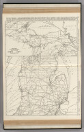 Commercial Atlas of America. Rand McNally Black and White Mileage Map, Michigan.