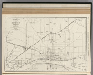 Commercial Atlas of America. Rand McNally 14 x 21 Inch Map of Detroit and Vicinity.