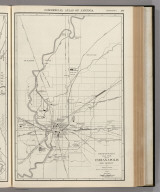 Commercial Atlas of America. Rand McNally 14 x 21 Inch Map of Indianapolis and Vicinity.