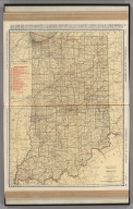Commercial Atlas of America. Rand McNally Standard Map of Indiana.