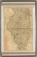 Commercial Atlas of America. Rand McNally Standard Map of Illinois.