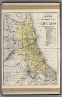 Commercial Atlas of America. Rand McNally Standard Railway Terminal Map of Chicago.