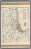 Commercial Atlas of America. Rand McNally Standard Map of Chicago District.
