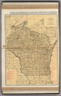 Commercial Atlas of America. Rand McNally Standard Map of Wisconsin.