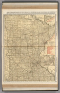 Commercial Atlas of America. Rand McNally Standard Map of Minnesota. (with) St. Paul - Minneapolis and Vicinity.
