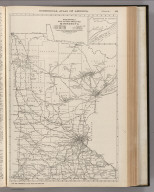Commercial Atlas of America. Rand McNally Black and White Mileage Map, Minnesota.