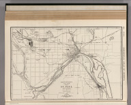 Commercial Atlas of America. Rand McNally 14 x 21 Inch Map of St. Paul and Vicinity.