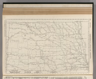 Commercial Atlas of America. Rand McNally Black and White Mileage Map, North Dakota.