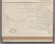 Commercial Atlas of America. Rand McNally Black and White Mileage Map, South Dakota.