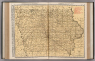 Commercial Atlas of America. Rand McNally Standard Map of Iowa.