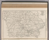 Commercial Atlas of America. Rand McNally Black and White Mileage Map, Iowa.
