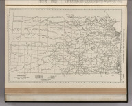 Commercial Atlas of America. Rand McNally Black and White Mileage Map, Kansas.