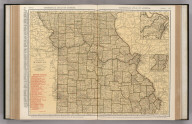 Commercial Atlas of America. Rand McNally Standard Map of Missouri.