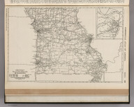 Commercial Atlas of America. Rand McNally Black and White Mileage Map, Missouri.