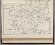 Commercial Atlas of America. Rand McNally Black and White Mileage Map, Oklahoma.