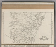 Commercial Atlas of America. Rand McNally Black and White Mileage Map, Arkansas.