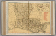 Commercial Atlas of America. Rand McNally Standard Map of Louisiana. (with) Vicinity of New Orleans.