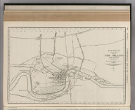 Commercial Atlas of America. Rand McNally 14 x 21 Inch Map of New Orleans and Vicinity.