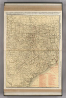 Commercial Atlas of America. Rand McNally Standard Map of Texas (Eastern Section).
