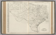 Commercial Atlas of America. Rand McNally Black and White Mileage Map, Texas.