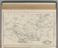 Commercial Atlas of America. Rand McNally Black and White Mileage Map, Arizona and New Mexico.