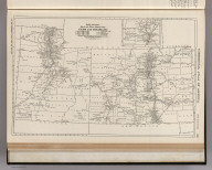 Commercial Atlas of America. Rand McNally Black and White Mileage Map, Utah and Colorado.