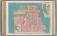 Commercial Atlas of America. Rand McNally Standard Map of City and County of San Francisco. (with) San Francisco and Vicinity.